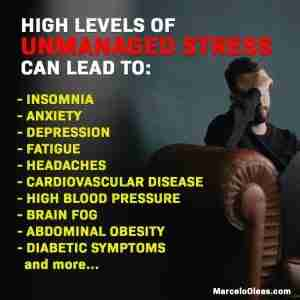 High levels of unmanaged stress