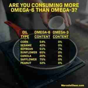 Omega-6 to omega-3 ratio