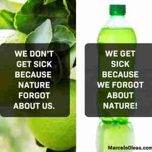 We get sick because we forgot about nature.