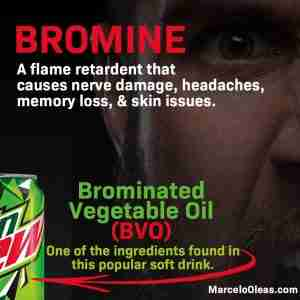 Brominated Vegetable Oil found in soft drinks in the US